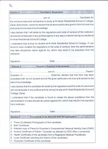 Application Form 2