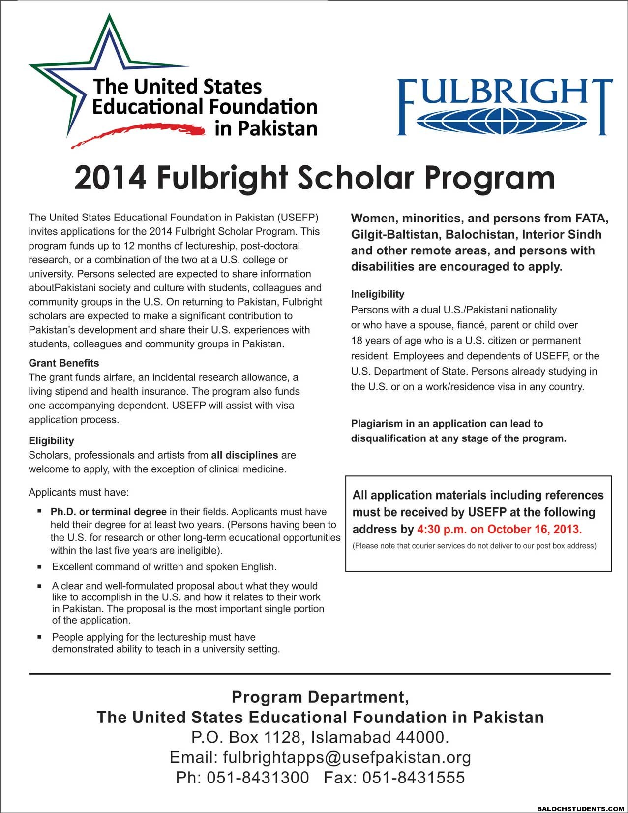 2014 Fulbright Scholar Program