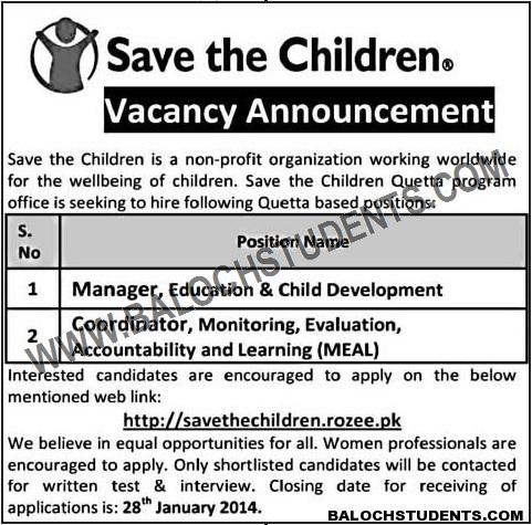Save the Children NGO Jobs